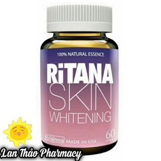 RITANA Skin Whiting 60 viên chính hãng giúp bật tông trắng hồng làm mờ sạm nám thumbnail