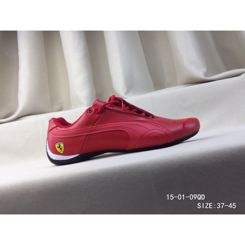 ต้นฉบับ PUMA ผู้ชาย Ferrari Motorsport รองเท้ากีฬาน้ำหนักเบาสะดวกสบายสีแดง