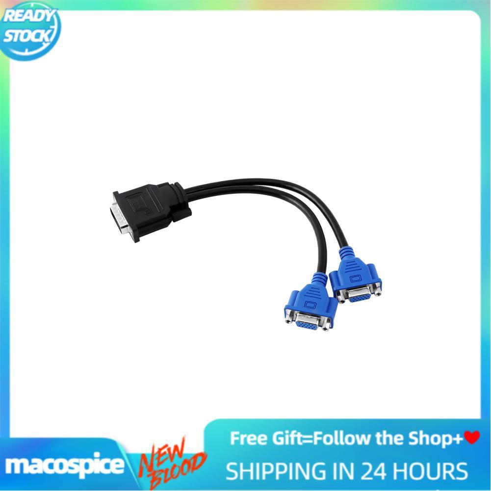Cáp chia cổng Macospice từ đầu cắm Dms-59 Pin sang 2 lỗ ca81mVGA cho màn hình HP
