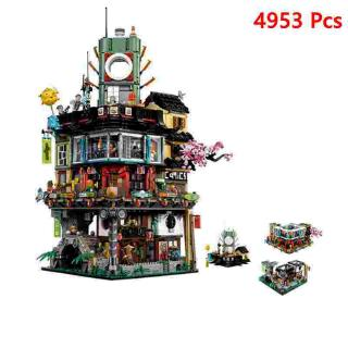 NINJAGO City building blocks Includes 16 minifigures Lego compatible LEPIN06066 4953 PCS similar to LEGO 70620
