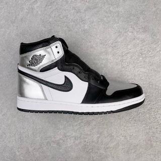 Giày Bóng Rổ Jordan 1 Aj1 Màu Đen Bạc Phong Cách Retro Cd0461-001 36-46 Cho Nam Và Nữ