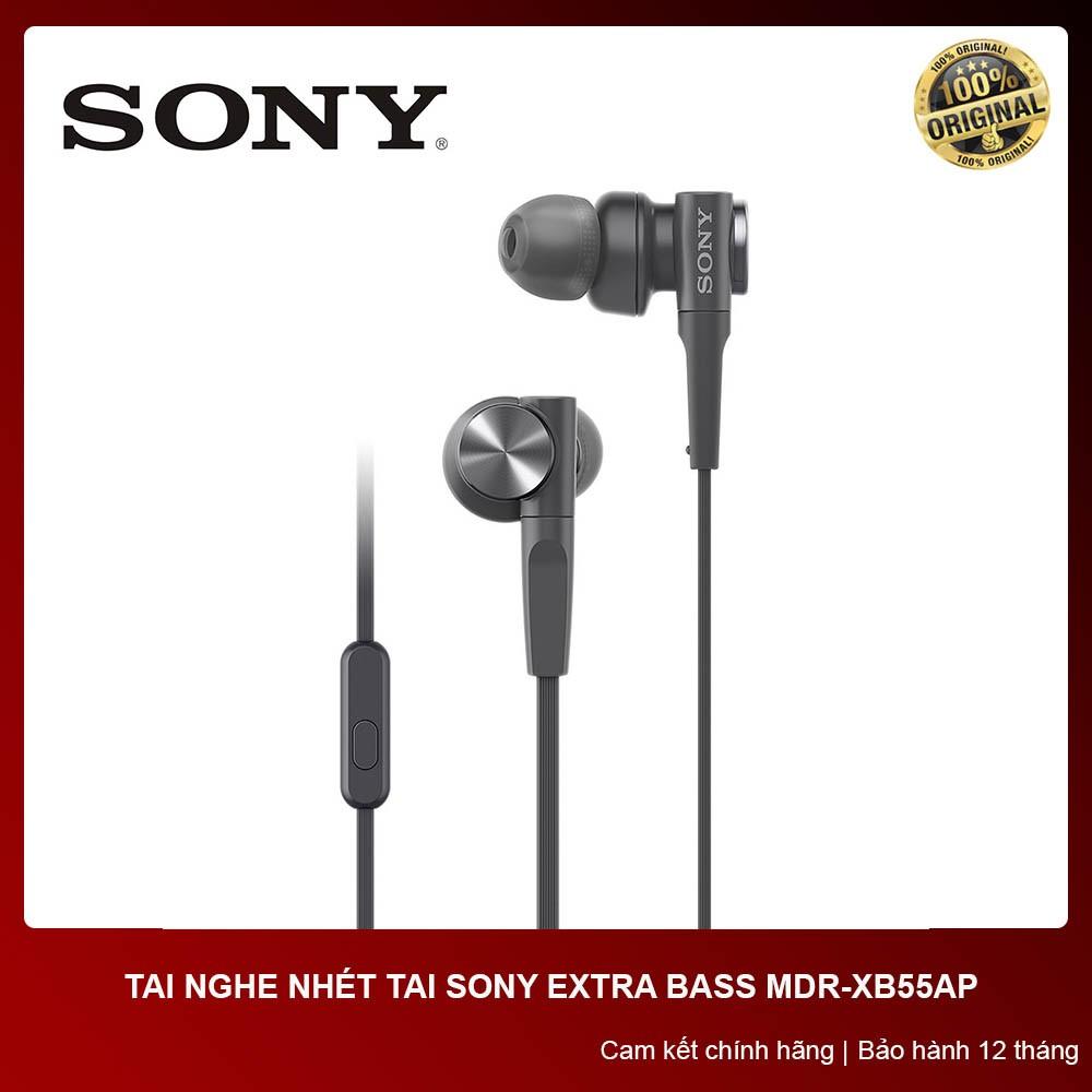 [CHÍNH HÃNG] Tai nghe nhét tai Sony XB55AP - Bảo hành chính hãng 12 tháng