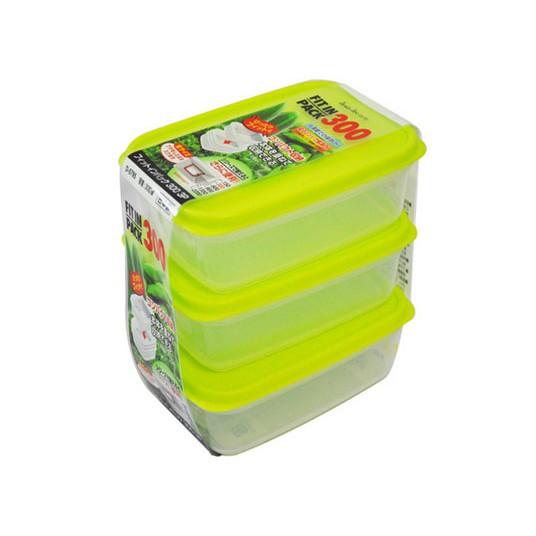 Set 3 hộp trữ thức ăn 300ml nắp dẻo