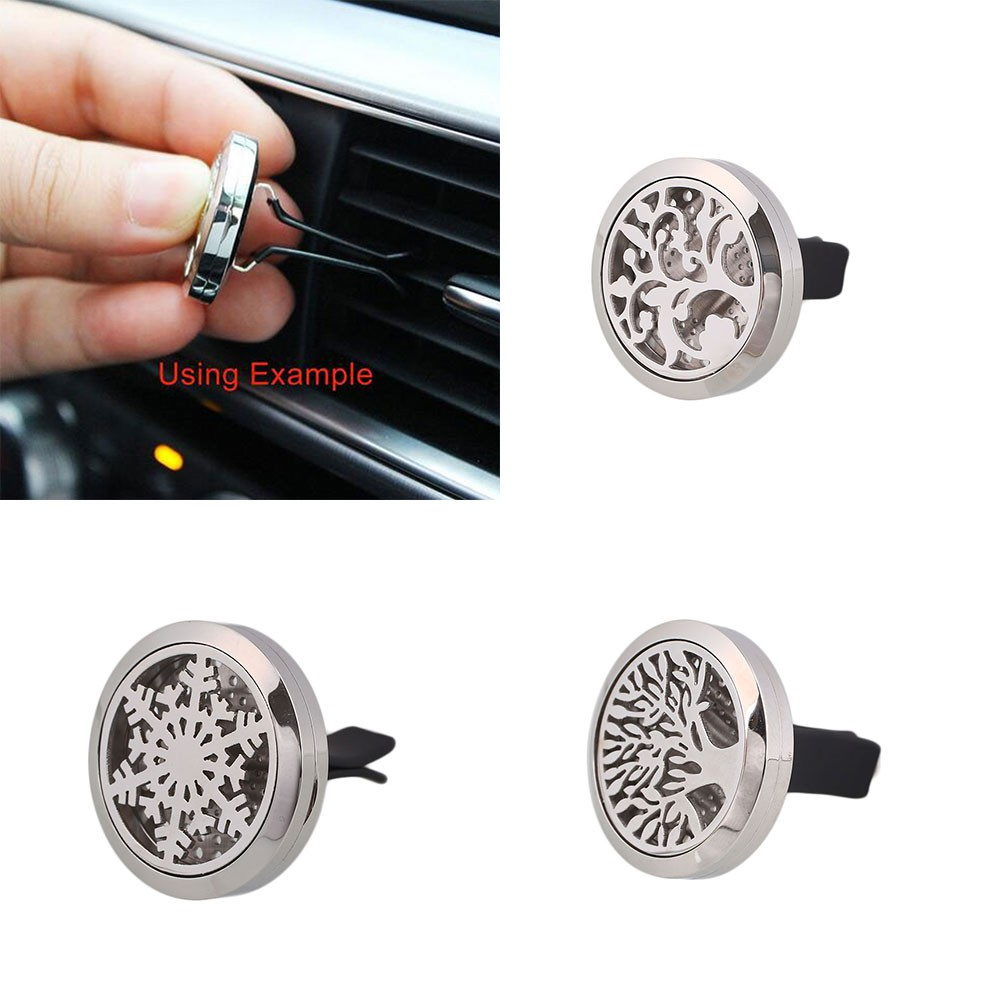 30MM Car Auto Vehicle Air Freshener Essential Oil Diffuser Locket Clip