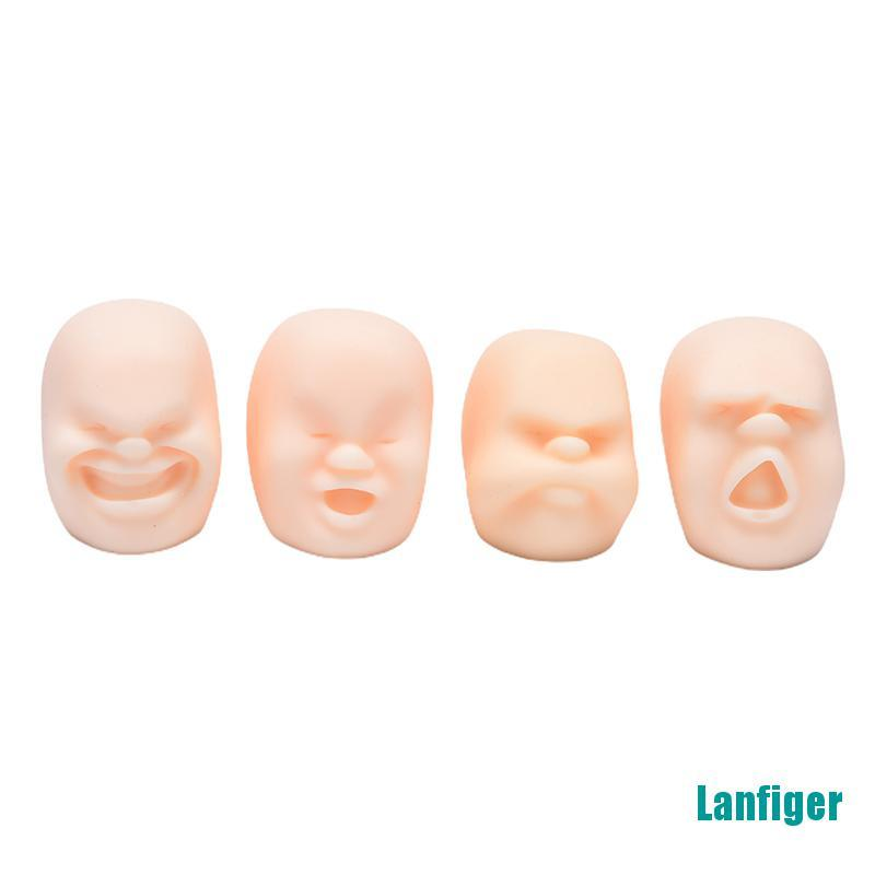 【Lanfiger】1PC Squeeze Human Face Emotion Vent Ball Stress Relieve Adult Decompression Toy