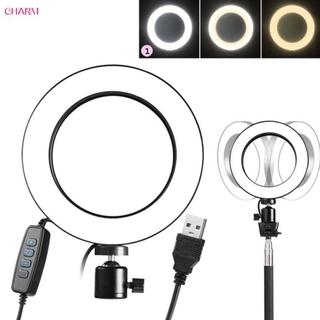 CHARM ● 20cm Kit LED Ring Light W/Tripod Ring Fill Light Portable Photo Sudio Ring Light Tool