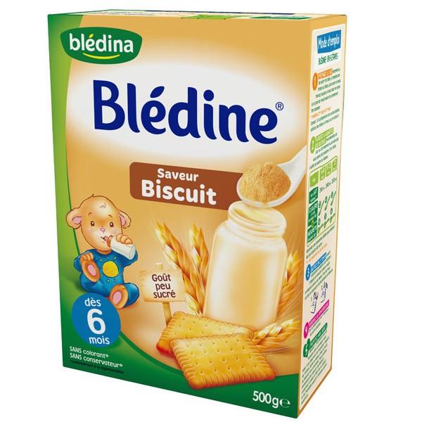 Bột pha sữa Bledina 6m vị Biscuit 500g