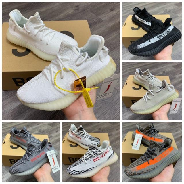 [Mã FATHANG5 giảm 10K đơn 50K] [ Freeship+Quà]- Video giày thể thao yz 350 gót phản quang soi boost sáng+ Fullbox+ Quà