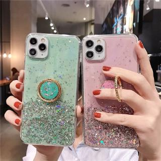 Xiaomi Mi 8 Lite 8SE 8X 9 Lite 9SE 9T Pro Phone Case Shine Star Glitter Bling Transparent Cover Ring Holder