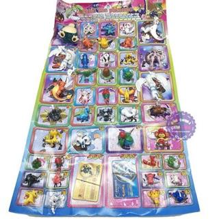 Vỉ đồ chơi bằng nhựa pokemon 47 con nhiều size