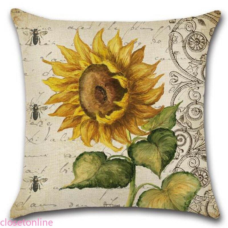 Vỏ áo gối hình hoa hướng dương xinh xắn 45cm X 45cm
