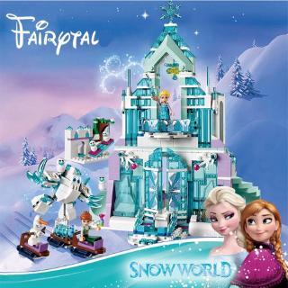"Lego movie Disney ""frozen 2"" elsa queen magic castle Cinderella's Romantic Castle building block toy"