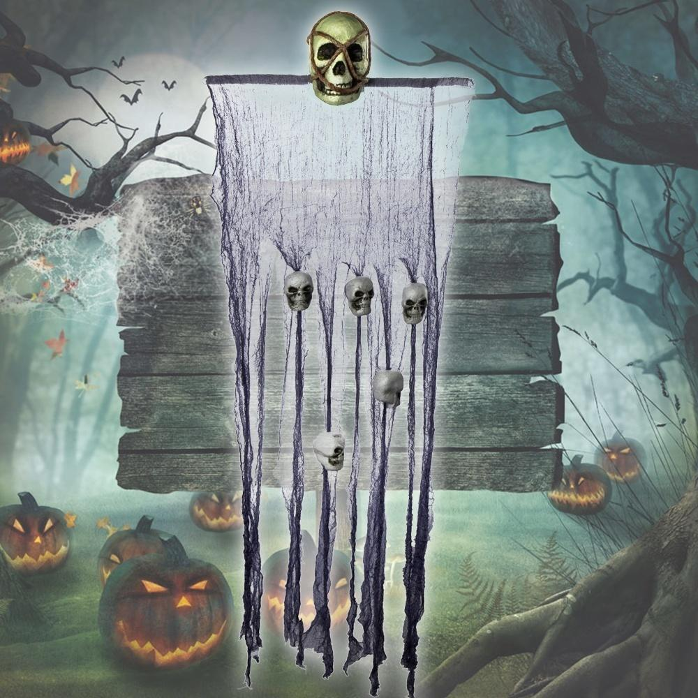Stylish Hooded Skeleton Halloween Hanging Horror Skull Ghoul Decoration Prop
