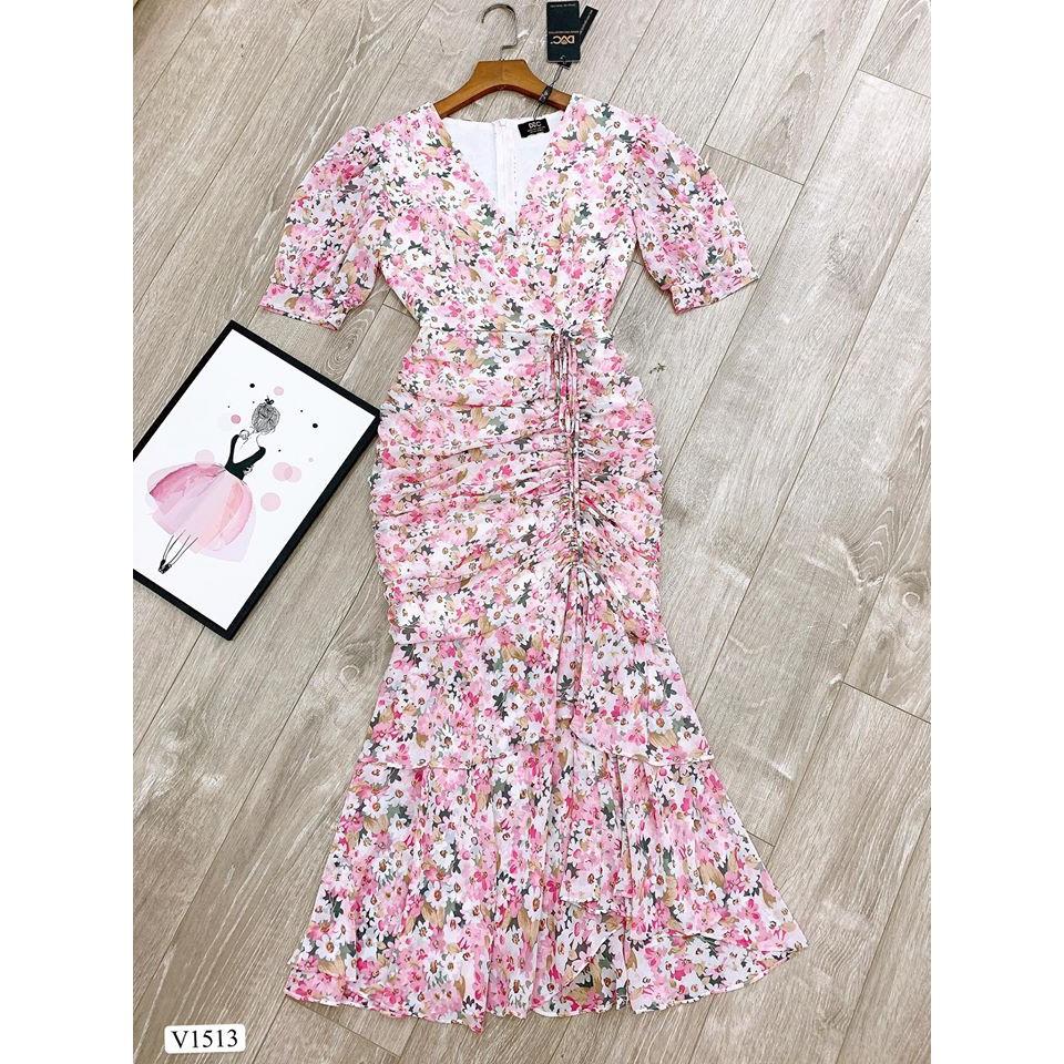 Váy hoa rút dây V1513- Mặc đi chơi- Đi biển- Dạo phố cực sang(Kèm ảnh thật trải sàn do shop tự chụp)