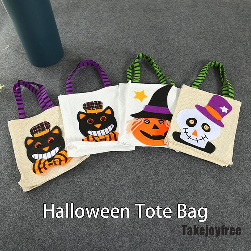 Hot Sale Fashion Halloween Tote Bag Chest Candy Pumpkin Gifts Party Bones Creepy Scary