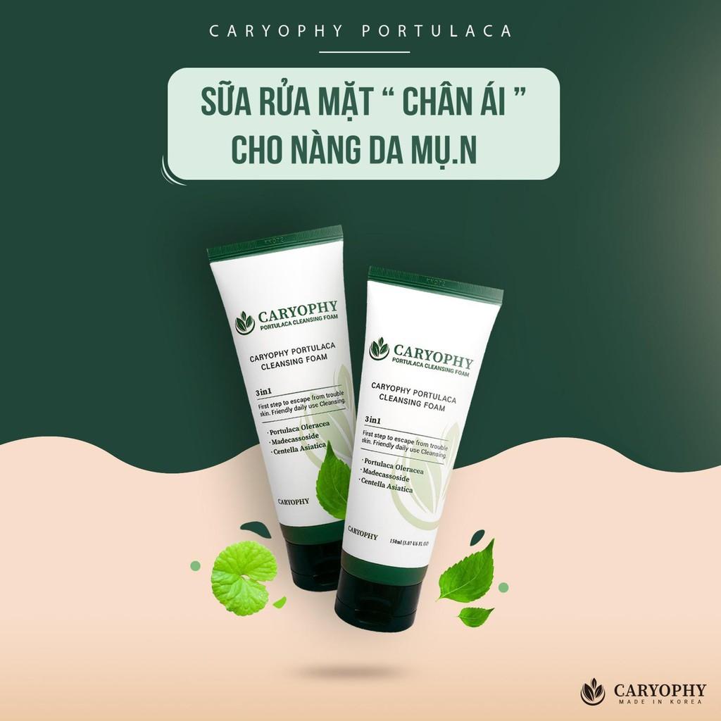 Sửa rửa rặt trị mụn caryophy portulaca cleansing foam 150ml | Shopee Việt  Nam
