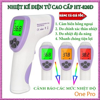 [Hàng chính hãng] Nhiệt kế điện tử cao cấp HT-820D, máy đo thân nhiệt cảm biến hồng ngoại đo chính xác nhiệt độ