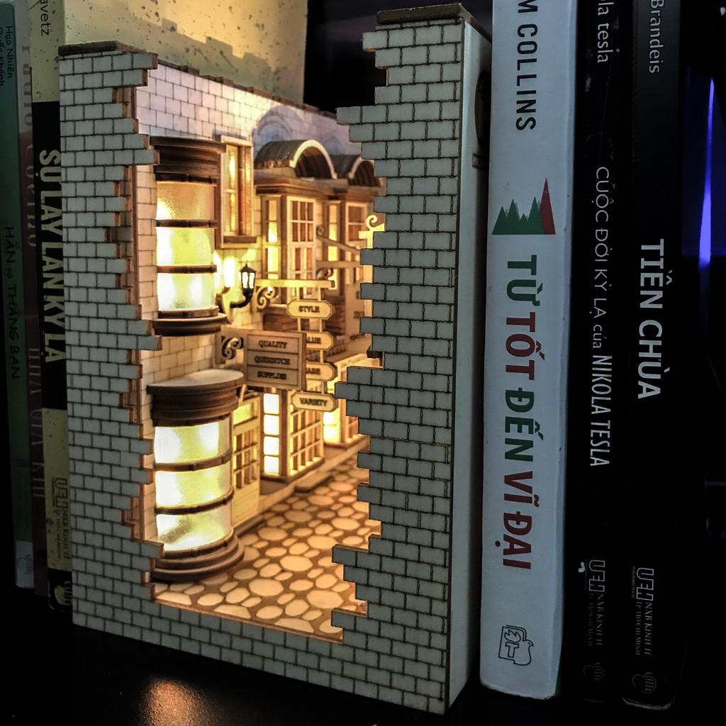 Bộ lắp ráp mô hình chặn sách Hẻm Xéo – Harry Potter – Size bé