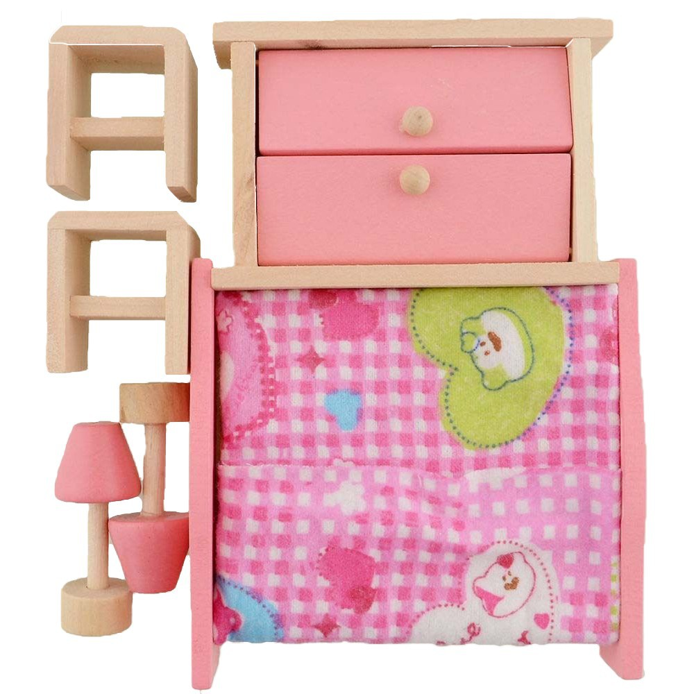 Bộ đồ nội thất bằng gỗ cho nhà búp bê