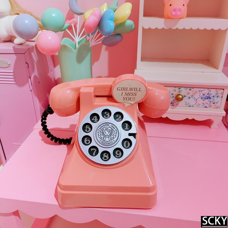 ★Girl Heart Retro Phone Desktop Decoration Student Holiday G