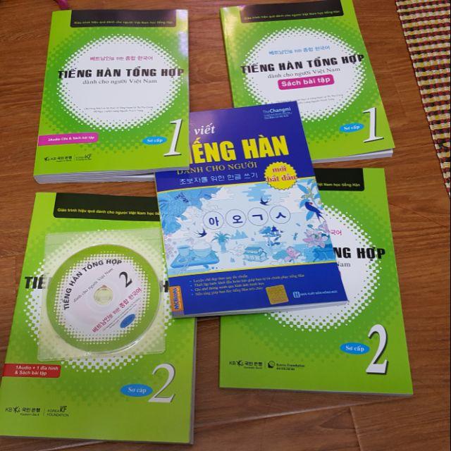 [FREESHIP+VOUCHER 20K] Sách Bộ Sơ cấp Tiếng Hàn tổng hợp dành cho người và Tập viết Sách giáo khoa + Bài Tập + đĩa CD