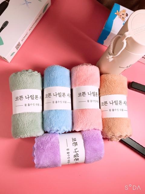 [ẢNH THẬT] Khăn Mặt Lông Cừu Xuất Hàn 100% Cotton, KT: 35*50cm