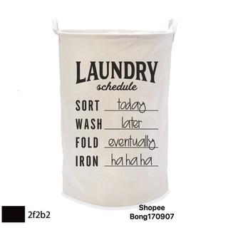 [Hàng VN - Ảnh thật] Giỏ đựng đồ giặt 1 lớp chống thấm size cỡ đại cao 50cm, đường kính 40cm