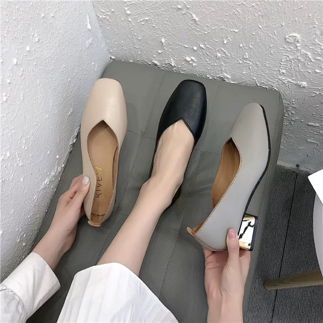 (ORDER) Giày cao gót da mềm BIG SIZE 34-42