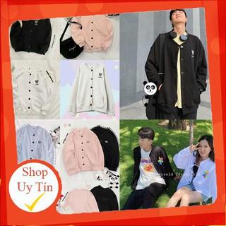 Áo cadigan nỉ kiểu hoodie có nút nam nữ form rộng logo thêu thời trang thu đông Liên hệ mua hàng 084.209.1989