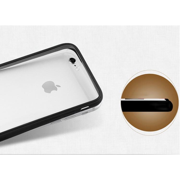 COMBO 55K/2 Ốp iPhone nhựa cứng trong viền dẻo đen/ iPhone 5/5s - iPhone 6/ iPhone 6+, iPhone 7/iPho