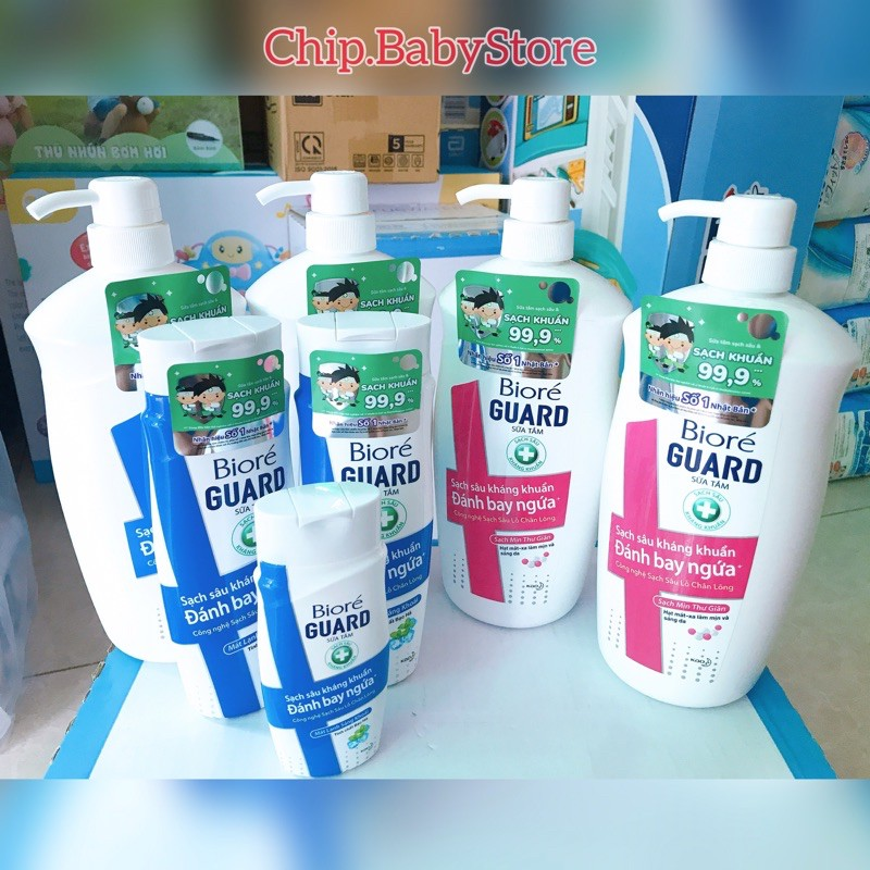 (Mẫu Mới) Sữa Tắm Biore Kháng khuẩn  Tinh Chất Bạc Hà - Sạch Mịn Thư Giãn - 800g