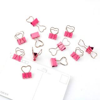 Kẹp giấy kim loại mini màu hồng hình trái tim (KGH01) thumbnail