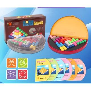 638 bài toán câu đố viên bi – trò chơi kim tự tháp