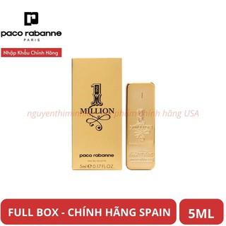 [Ngọt đê mê] Nước Hoa Nam mini Paco Rabanne 1 MILLION 5ml Chính Hãng Spain - Tây Ban Nha