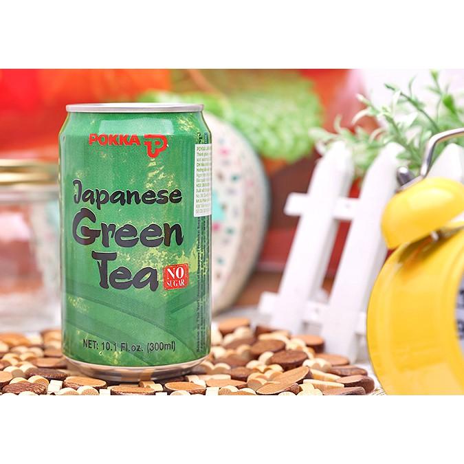 Nước trà xanh Nhật Pokka lon 300ml