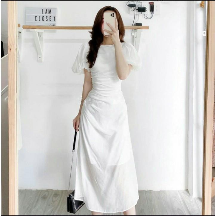 Mặc gì đẹp: Bồng bềnh với Đầm thiết kế hồng tay phồng nhún eo đi tiệc cưới