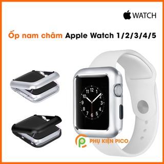 Ốp nam châm Apple Watch Series 1/2/3/4/5 38mm 42mm 40mm 44mm nhôm nguyên khối