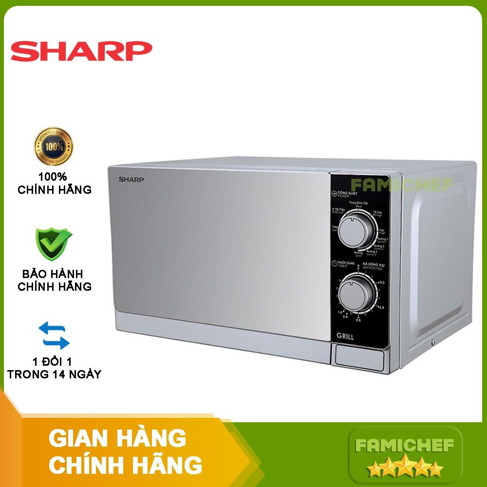 Lò vi sóng có nướng Sharp R-G223VN-SM 20 lít tại TP. Hồ Chí Minh