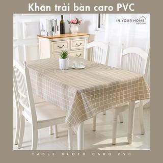 [SIÊU RẺ] Khăn trải bàn caro PVC không thấm nước, dầu mỡ dễ dàng vệ sinh