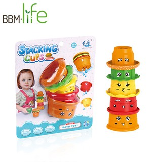5pcs Early Education Basics Stack Roll Cups Baby Toys Nest Developmental Toy
