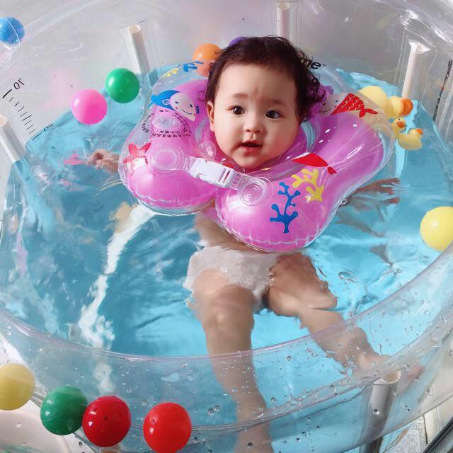 # Bể bơi khung tròn tặng kèm phao cổ cho bé yêu 80x80cm hàng Nhật