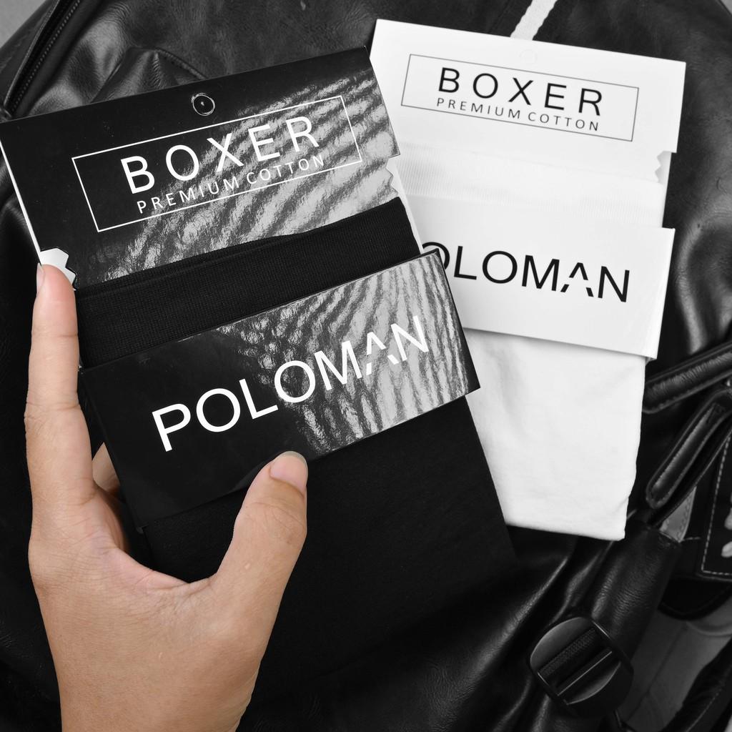 Quần lót Boxer nam sợi Cotton tự nhiên 100% thoáng khí,co giãn cao cấp Poloman