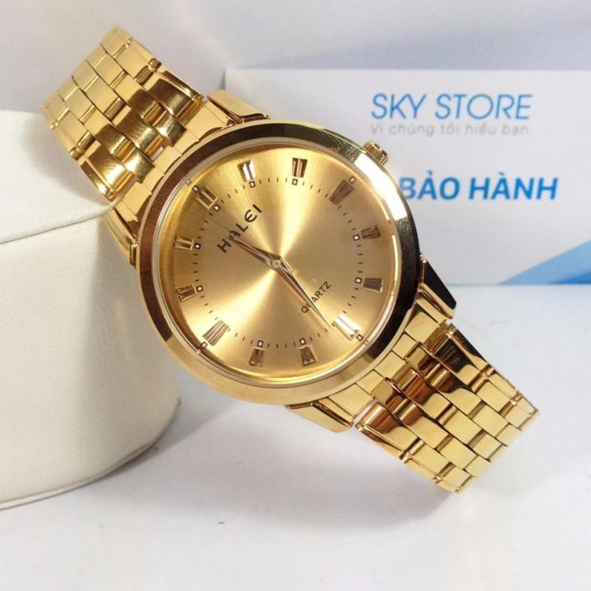 Đồng hồ HALEI HA824W (Vàng) nam dây thép mặt tròn không gỉ - 2645115 , 396688556 , 322_396688556 , 389000 , Dong-ho-HALEI-HA824W-Vang-nam-day-thep-mat-tron-khong-gi-322_396688556 , shopee.vn , Đồng hồ HALEI HA824W (Vàng) nam dây thép mặt tròn không gỉ