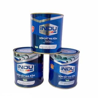 [TẶNG KÈM CHỔI SƠN] [BẢO HÀNH KHÔNG BONG TRÓC] Sơn sắt mạ kẽm Indu hộp 750Ml dùng để sơn trên kẽm, inox