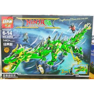 Lego Lepin 8918 Lắp Ráp Rồng Thần hoặc Kỳ Lân 2 in 1- Có Đèn LED ( 1443 Mảnh )