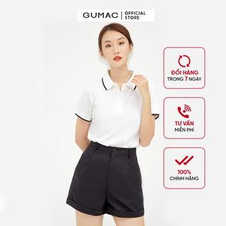 Hình ảnh Áo thun polo nữ, xẻ lai GUMAC đủ màu đủ size, thiết kế basic ATB109-0