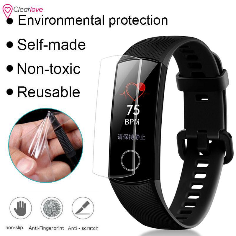 ❤CL Ultra Clear 2pcs Screen Protector 2pcs 2pcs TPU Screen Protector Film Huawei Honor Band 4 New