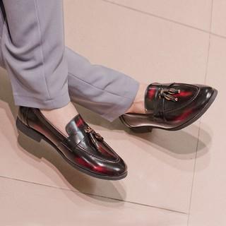 Giày lười nam da bò chuông chà đỏ L542 lẻ size bán nốt 199k
