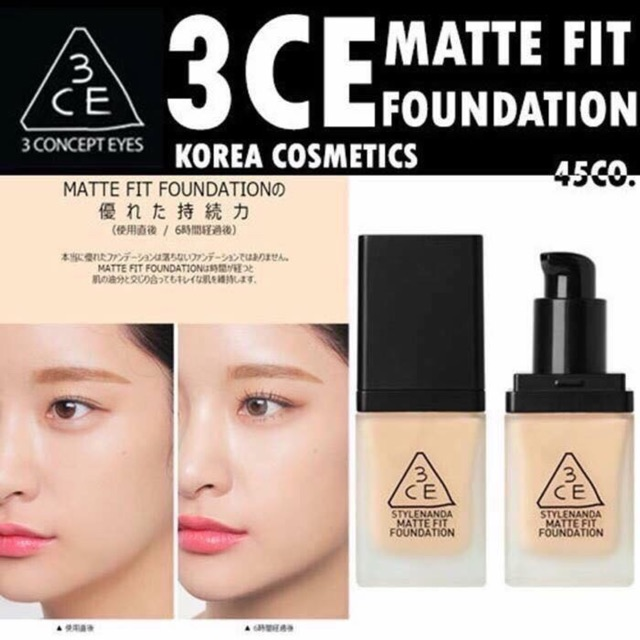 (SALE-3DAY) KEM NỀN 3CE STYLENANDA MATTE FIT FOUNDATION - 13662848 , 1298371557 , 322_1298371557 , 340000 , SALE-3DAY-KEM-NEN-3CE-STYLENANDA-MATTE-FIT-FOUNDATION-322_1298371557 , shopee.vn , (SALE-3DAY) KEM NỀN 3CE STYLENANDA MATTE FIT FOUNDATION