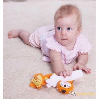 ღ♛ღAnimal Handbells Developmental Toys Bed Bells Kids Newborn Baby Soft Toys Rattle